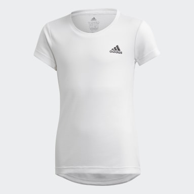 Youth 8-16 Years Yoga White AEROREADY T-Shirt