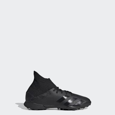 Kids Football Black Predator 20.3 Turf Boots