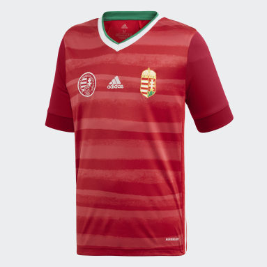Barn Fotboll Röd Hungary Home Jersey