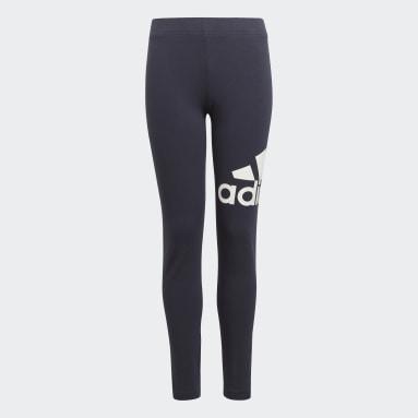 Dívky Sportswear modrá Legíny adidas Essentials