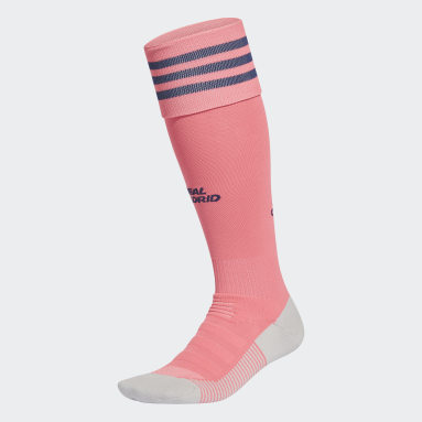 Chaussettes Real Madrid 20/21 Extérieur Rose Football