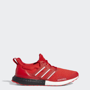 Chaussure Ultraboost rouge Course