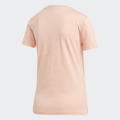 Camiseta Brush Effect Logo Graphic Rosa Mujer Sportswear