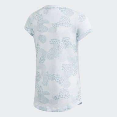 Mädchen Yoga Must Haves Graphic T-Shirt Blau