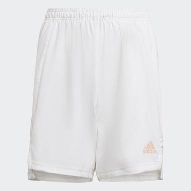Short Condivo 21 Primeblue Blanc Garçons Football