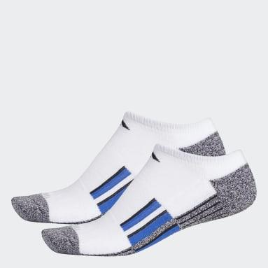 Men's Running White Cushioned No-Show Socks 2 Pairs
