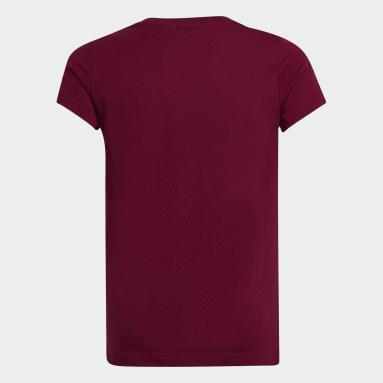 T-shirt Essentials Linear Bordeaux Filles Sportswear