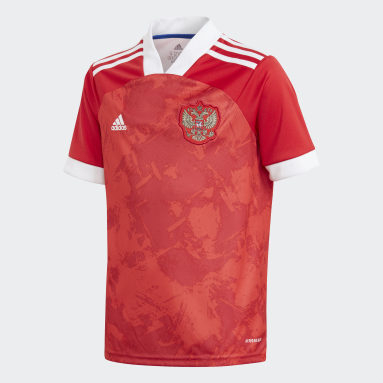 Kinderen Voetbal Rood Rusland Thuisshirt