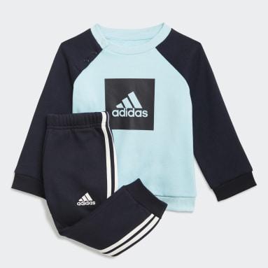 Infant & Toddler Training Blue 3-Stripes Fleece Jogger Set