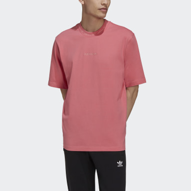 Men Originals Pink Rib Detail T-Shirt