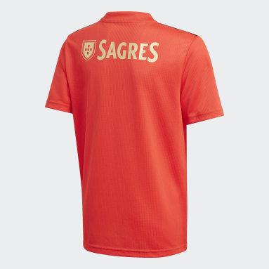 Kinderen Voetbal Rood Benfica Thuisshirt