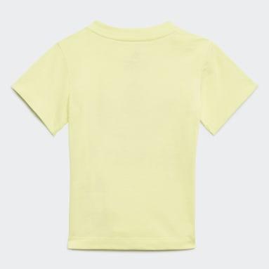 Camiseta Camo Print Graphic Amarillo Niño Originals