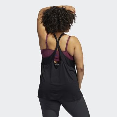Women Yoga Black Primegreen Tank Top (Plus Size)
