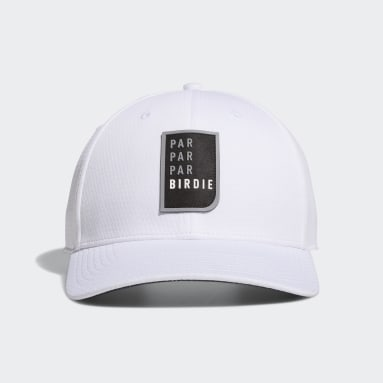 Men Golf White Par Par Par Birdie Snapback Hat