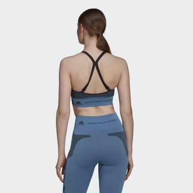 синий Спортивный бра adidas by Stella McCartney TruePurpose Seamless