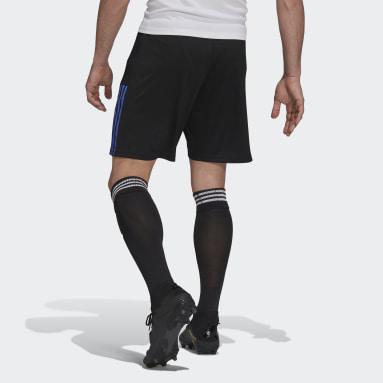 Muži Fotbal černá Šortky Real Madrid Tiro Training