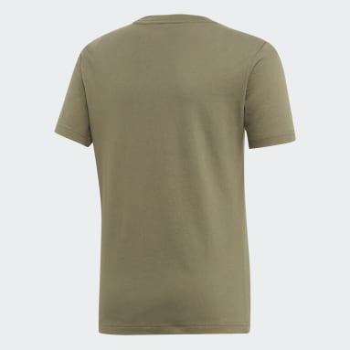 Youth 8-16 Years Sportswear Green Essentials Linear Logo T-Shirt