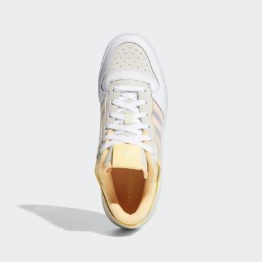 Women Originals White Forum Low Transparent Panel Shoes