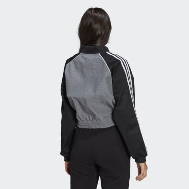 Dames Originals Zwart Cropped Trainingsjack