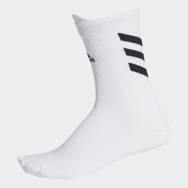 Cricket White Alphaskin Crew Socks