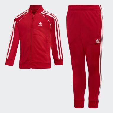 Kids Originals Red SST Track Suit