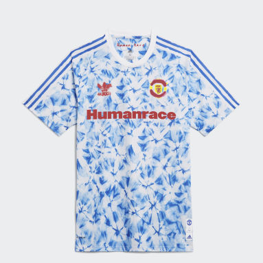 Camiseta Human Race Manchester United Blanco Hombre Fútbol