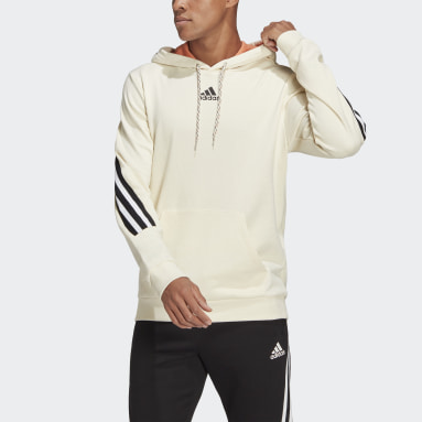 Men Sportswear White adidas Sportswear 3-Stripes Tape Summer Hoodie
