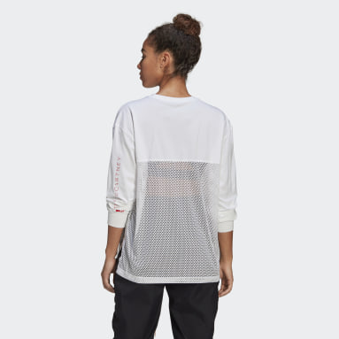 Frauen adidas by Stella McCartney adidas by Stella McCartney Mesh Longsleeve Weiß