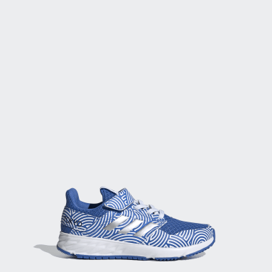 Kids Running Blue FortaFaito Tokyo Top Strap Shoes