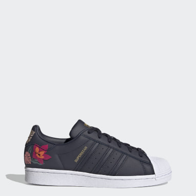 Women's Originals Blue Superstar Shoes