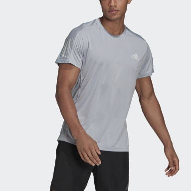 Men Running Grey Own the Run Tee