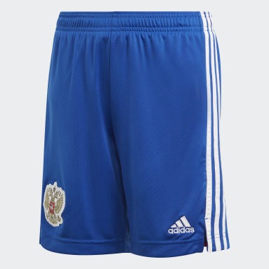 Youth 8-16 Years Football Blue Russia Away Shorts