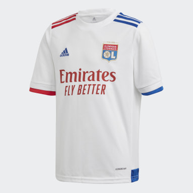 Kids Football White Olympique Lyonnais 20/21 Home Jersey