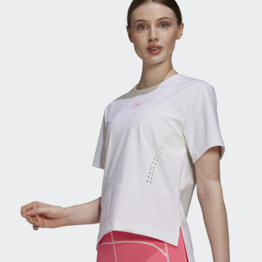 Women adidas by Stella McCartney White adidas by Stella McCartney TRUESTRENGTH Loose T-Shirt