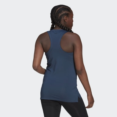 Women's Training Blue AEROREADY Designed 2 Move Sport Tank Top (Maternity)