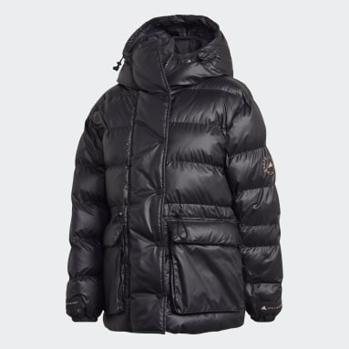 Dam adidas by Stella McCartney Svart 2-in-1 Mid Length Padded Jacket