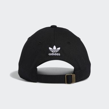 Men's Originals Black 3D Trefoil Strap-Back Hat
