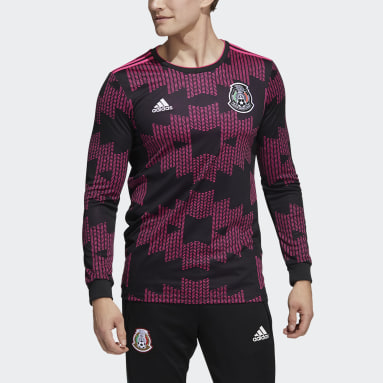 Men's Soccer Black Mexico Long Sleeve 2020 Home Jersey
