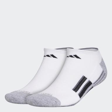 Men's Hiking White Cushioned No-Show Socks 2 Pairs