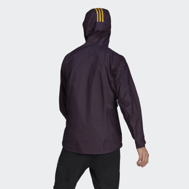 Men TERREX Purple Terrex Fastr GORE-TEX Rain Jacket