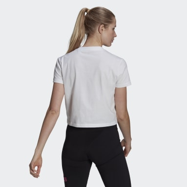 T-shirt court Essentials Gradient blanc Femmes Sport Inspired