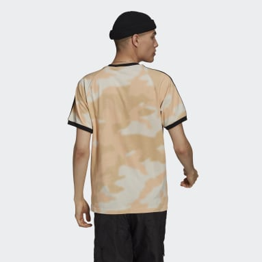Men Originals Beige Camo 3-Stripes Tee