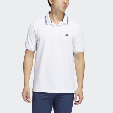 Herr Golf Vit Go-To Primegreen Pique Polo Shirt
