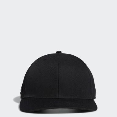 Men Golf Black Tour Snapback Crestable Cap