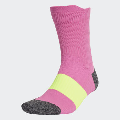Training Pink Running Ultralight Crew Performance Socks