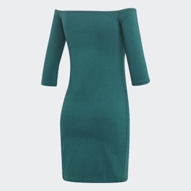 Women Originals Green Off-the-Shoulder Dress