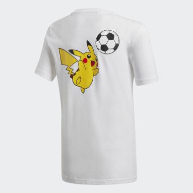 Polo Pokémon Blanco Niño Training