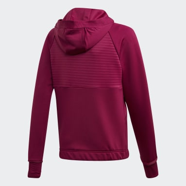 Girls Vintersport Burgundy COLD.RDY Full-Zip hættetrøje