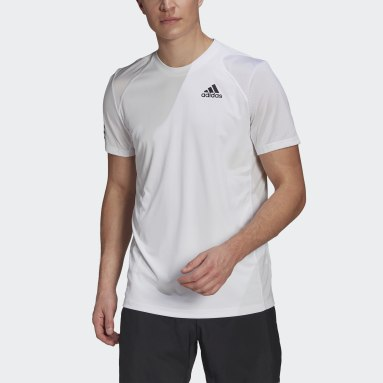 Men Tennis White Club Tennis 3-Stripes Tee