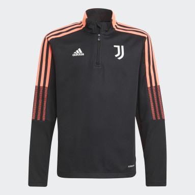 Kids Football Black Juventus Tiro Training Top